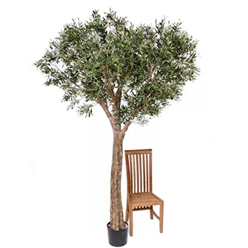 Deko XXL-Olivenbaum, getopft, uv-sicher, 240 cm – Künstlicher Olivenbaum / Kunstbaum