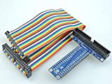 [Sintron] 40 Pin GPIO Extension Board with 40 Pin Rainbow Color Ribbon Cable for for Raspberry Pi 1 Models A+ and B+, Pi 2 Model B, Pi 3 Model B and Pi Zero