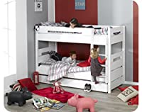 Bow Bunk bed - white