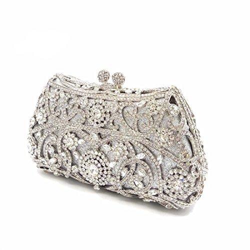 Frauen-Kupplungs-Geldbeutel LuxuxRhinestone Kristallabend-Handtaschen I