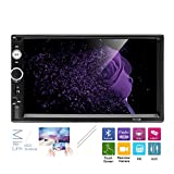 AMprime Universal 2 Din Car Stereo Radio Player Bluetooth 7 inch Capacitance Touch