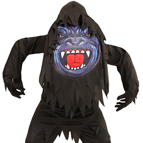 Kind Bigfoot Kostüm - Amakando Affenkostüm Halloween Kinderkostüm AFFE Halloween Kostüm Kind Monster Halloweenkostüm Bigfoot Horror Tierkostüm Kinder Gorilla Kostüm