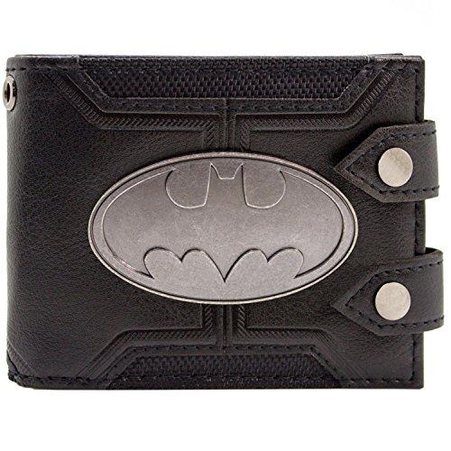 DC Batman Badge Double boutonné Noir Portefeuille