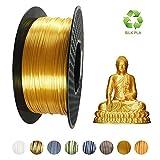 KEHUASHINA Filament PLA Silk 1,75 mm de diamètre pour imprimante 3D - Bobine de 1kg - Accessoire pour imprimante 3D, matériel d'impression 3D (or)