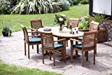 """Paris"" 13 Piece Top Grade SVLK Compliant 6 Foot Teak Set New 2016 Model By Humber Imports"
