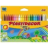 Bic Plastidecor - Ceras de colores, pack de 24