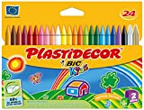 Bic Plastidecor - Ceras de colores, pack de 24