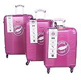 Traworld Nova 3 Pcs Luggage Set Expandable Hardside Lightweight Spinner Suitcase - 4Wheels