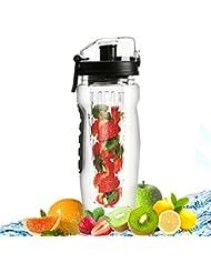 Bever Botella de Agua con Filtro Infusor, 946 ml / 32 oz