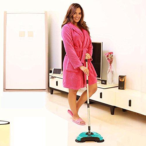 Dracarys Lazy 3 en 1 limpieza para el hogar mano empuje automático Sweeper escoba – incluye limpiador de escoba y recogedor y cubo de basura de – sin electricidad ambiental