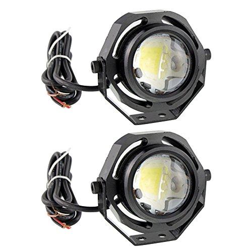 Vococal® 2 Stk 10W Universal Fahrzeuge Ultra helle Eagle Eye LED COB DRL Licht Auto Lampe Tagfahrlicht Nebel Licht Backup Lampe für Motorrad LKW, Kühles weißes Licht