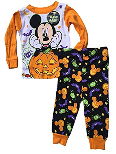 Baby Boys Mickey Mouse Two-Piece Halloween Pajamas (Baby Glow In The Dark Costume)