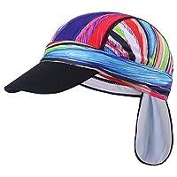 Qkurt Sports Headwear, Quickly Dry Skull Cap UV Protection Cycling Cap Bike Motorcycle Under Helmet for Men Women