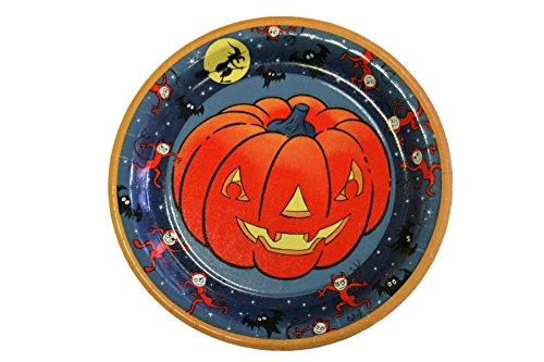 Halloween-Pappteller 10er-Pack, Kürbis-Motiv, Einwegteller, Einweggeschirr, M...