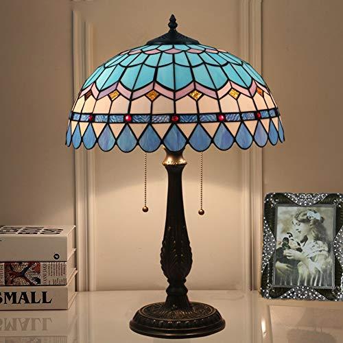 "Tiffany Style Tischleuchte Kirchenglas Handgefertigt 16 Zoll Luxuriöse Klassische Lampe (16\"") Mittelmeer TTL-35"