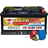 BIG Solar DC GEL 12 V 100 Ah (100h) Boot Caravan Solar Reha Batterie inkl. Easy Click
