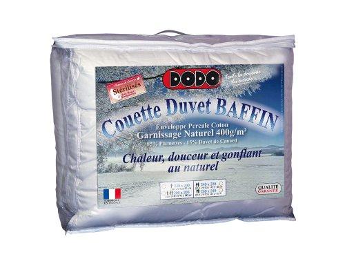 Dodo Baffin Couette 240 x 260 cm Chaude Naturel