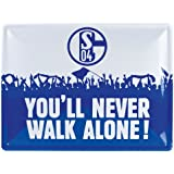 FC Schalke 04 Metallschild Never walk alone