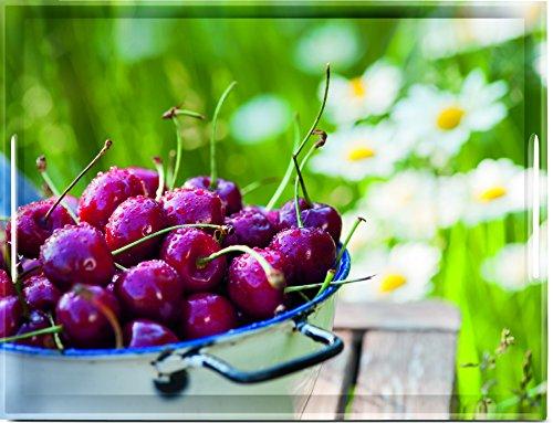 Emsa 515690 Tablett mit Cherry Dekor, Größe 50 x 37 cm, Classic (Kirsche-holz-küche-tisch)