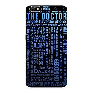 Cute Blue Doc Angel Back Case Cover for Honor 4X
