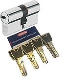 Abus XP20S Double cylindre Longueur (a/b) 35/50 mm (C = 85 mm) avec carte de sécurité et 8 clés avec clip de conception, fonction d'urgence et danger et protection contre perçage