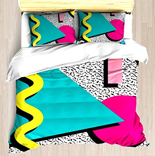 1980s Abstract Pattern Duvet Cover Set - All Sizes