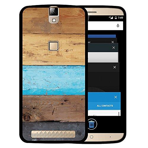 WoowCase Elephone P8000 Hülle, Handyhülle Silikon für [ Elephone P8000 ] Holzwand Handytasche Handy Cover Case Schutzhülle Flexible TPU - Schwarz