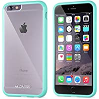 Custodia per iPhone 6s | iCASEIT EverClear Bumper Case [AIR CUSHION] with Clear Back Panel | Highly Durable, Super Strong, Non-Slip, Exact-Fit, Cushioned Corners & Premium Finish | MINT