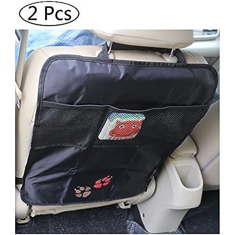 DoubleVillages Organizer bambino per sedile auto / Auto organizzatore del sedile / Auto Sedile per Sedile / Auto Backseat Custodia Bambini Calci Fango Tappeto Pulito / Proteggi Sedile Auto / Multi Tasca Organizer per sedile auto Portaoggetti / Tappetino protettore contro i calci del sedile dell'auto / Completo di comode tasche organizer / Auto Seat Protector Kick Mats-Mats calcio