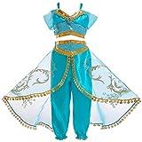 Amosfun 2 Stücke Aladdin Prinzessin Cosplay Tops Culottes Party Dress Up Kostüm Set für Mädchen