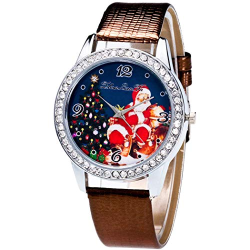 Justdolife Christmas Watch Santa Casual Wrist Watch per Adulti