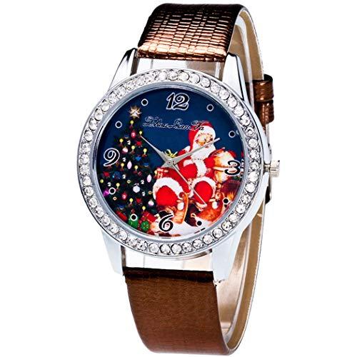 Justdolife Weihnachtsuhr Santa Casual Armbanduhr FüR Erwachsene