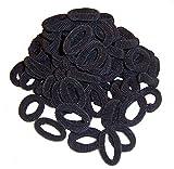 Haargummis schwarz 50 Frottee Zopfbänder Haarschmuck Kinder Zopfgummis