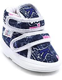 CHIU Chu-Chu Blue Shoes With Double Strap For Baby Boys & Baby Girls