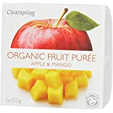 Clearspring Orgánica Apple y Mango Puree 2 x 100g
