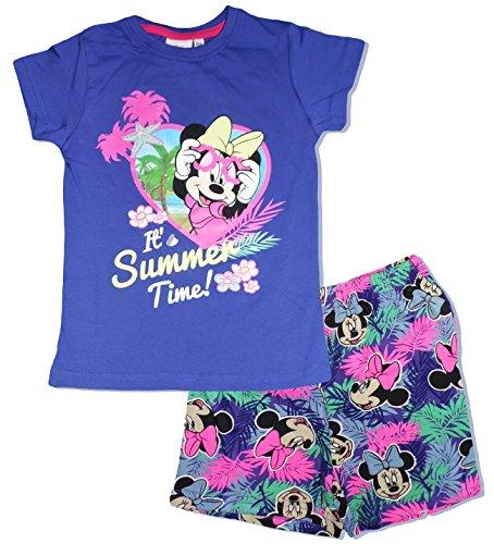 Disney - pigiama due pezzi - ragazza violet 4 anni