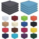 4er Pack zum Sparpreis, Frottierserie in 18 Farben und 8 Größen, 100% Baumwolle 500 g/m - 4er Pack Seiftücher (30x30 cm) - Farbe Anthrazit
