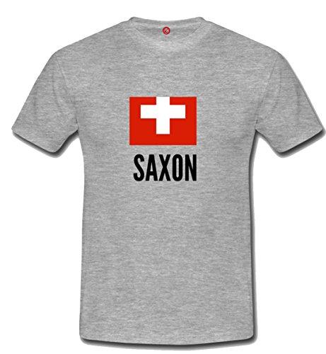 T-shirt Saxon city grigia
