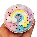 SO-buts Rainbow Fluffy Slime, Floam Putty Arcilla Slime Kit Alivio del...