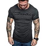 Verano Moda Camiseta Hombres Casual Letra Impresa Tops Manga Corta Blusa