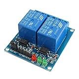 Henglifu 1pcs 5v 2 Channel Relay Module Indicator Light LED Arduino PIC ARM DSP AVR