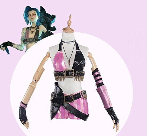 Vivian Hot Spiel LOL Women's Cosplay Kostüm Uniform PU Leather Erwachsene Teens (Mailen Sie uns Ihre Größe) (Teen Hot Kostüme)