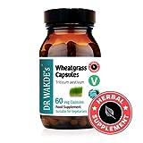 DR WAKDE'S Wheatgrass cápsulas (Triticum Aestivum) I 100% Natural I 60 cápsulas I Productos...