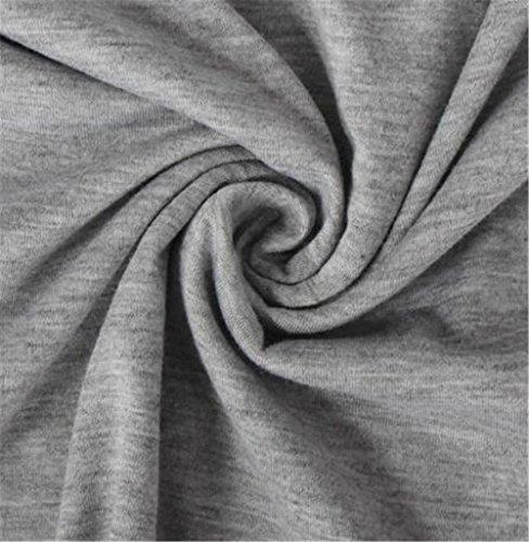 BESTHOO Blouses Donna Elegante Maglie A Manica Lunga Autunno Top Blusa Sciolto Puro Colore Maglietta Moda Casual T-Shirt Gray