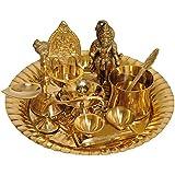 Exotic India Lord Hanuman Puja Thali with Lakshmi Ji Diya - Brass
