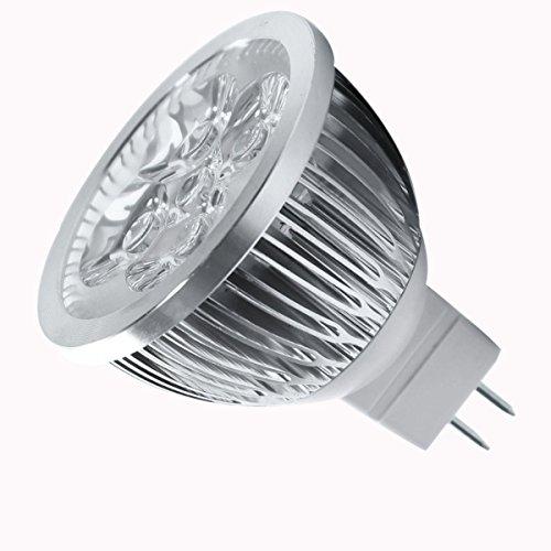 JVSISM 4W Dimmbar MR16 LED Birne / 3200K Warmes Weiss LED Scheinwerfer / 330 Lumen 60 Grad Strahlungswinkel fuer Landschaft, Akzent, Eingelassen, Schienenbeleuchtung -