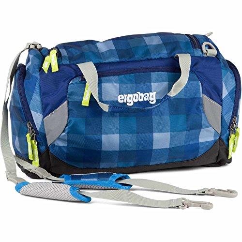 Ergobag borsone da sport 40 cm LiBäro I Blu (Blue Checks)