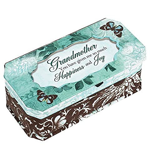 Cottage Garden Grandmother Happiness and Joy Belle Papier Jewelry Music Musical Box Plays What a Wonderful World by Cottage Garden