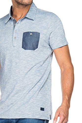 Salsa - Pikee-Poloshirt, mit kontrastfarbener Tasche - Herren Blau