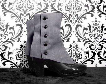 y Malone Great Gatsby weiß& Fancy Dress Herren Gamaschen Schwarz (Great Gatsby-kostüme Herren)